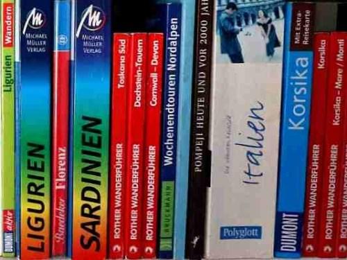 Bild einer Reihe von Reisebüchern