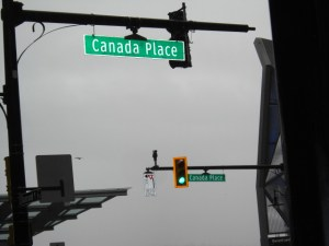 The sign of Canada Place