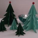 立体の折り紙クリスマスツリー 手作り簡単でかわいいですよ!