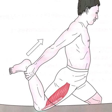 大腿四頭筋のストレッチング
