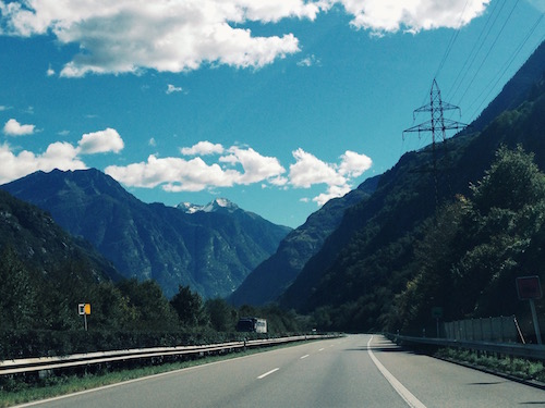 alps switzerland highway