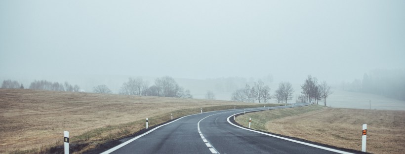 highway fog road