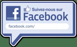 affichette logo suivez nous sur face book -M- Traiteur