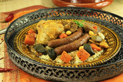 couscous 3 viande sur un plat oriental