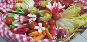 Panier Provençal assortiment de légumes taillés