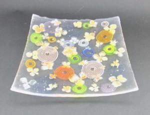 ガラス角皿