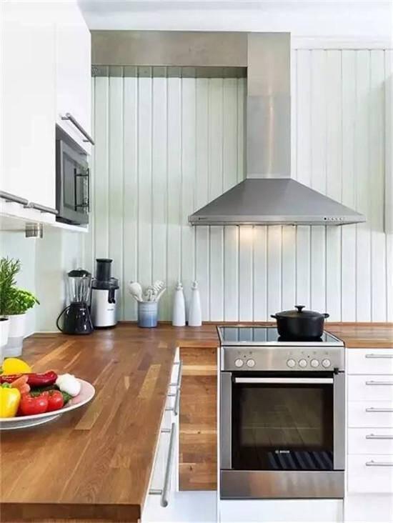 kitchen wood countertops copper hoods 厨房台面这么装 20年都不过时 京东 厨房台面