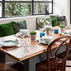 Kitchen Table Set With Bench Valence 早春里的厨房 就属那餐桌最吸引人 京东 早春时节 是一个阳光明媚且充满活力的季节 虽然很多人都吐槽着春困的各种痛苦 确实 暗淡 无味的居家空间 看着真的很想睡觉 更别说是一个活力了
