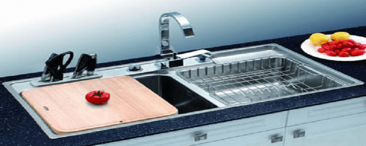 kitchen sinks with drainboard built in cabinets showroom 一款好的厨房水槽是你做出美味的动力 京东 厨房水槽