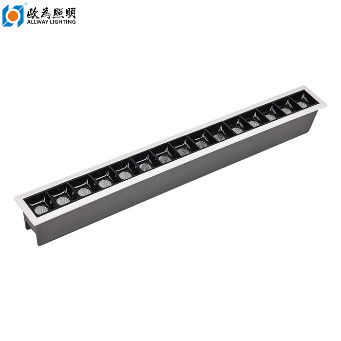 china customized 15 light 30w recessed linear led manufacturers suppliers factory allway lighting