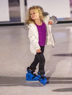 Ben Kleppinger/ben.kleppinger@amnews.com Aubrey McGuffey, 4, takes a turn on her skates.