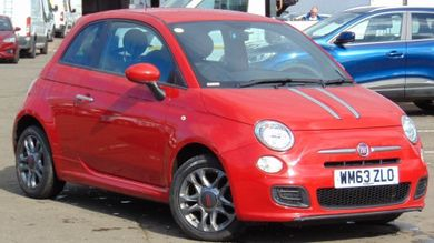red fiat 500 used