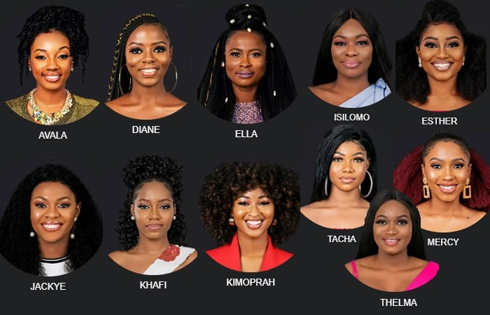 Image result for Diane Big brother Naija bbnaija 2019: check out 5 most beautiful female housemates BBNAIJA 2019: CHECK OUT 5 MOST BEAUTIFUL FEMALE HOUSEMATES BBNaija season four female housemates  Avala  Diane  Ella  Isiloma  Esther  Jackye  Khafi  Kimoprah  Tacha  Mercy  Thelma min