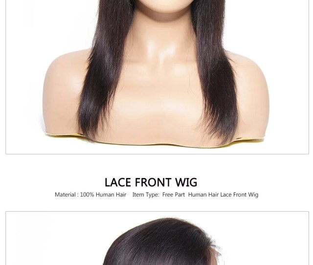Lace Front Straight Black Human Hair Wigs