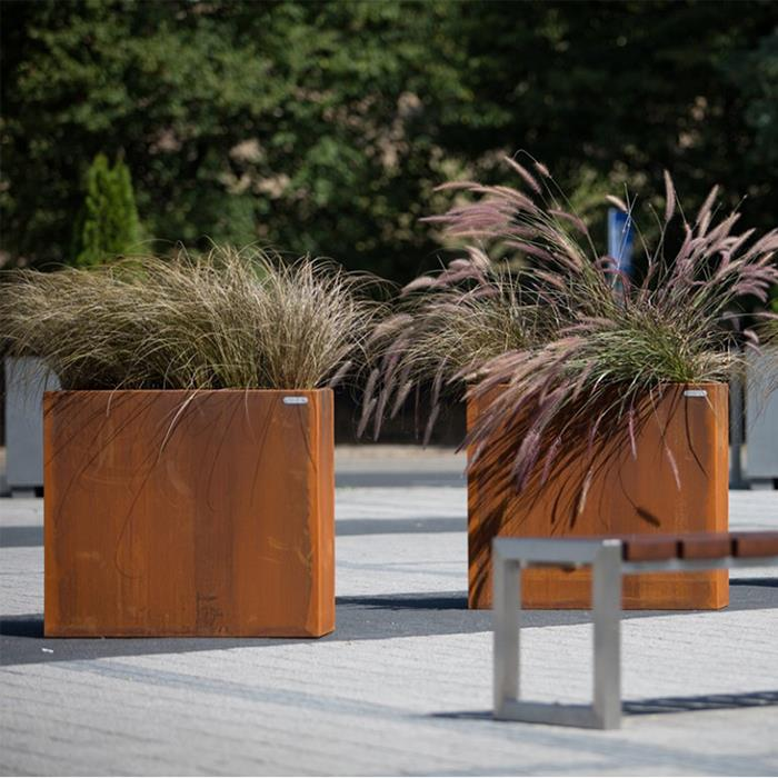 China Corten Steel Extra Large Planters For Live Trees Manufacturers Suppliers Distributor Factory Direct Price Gnee