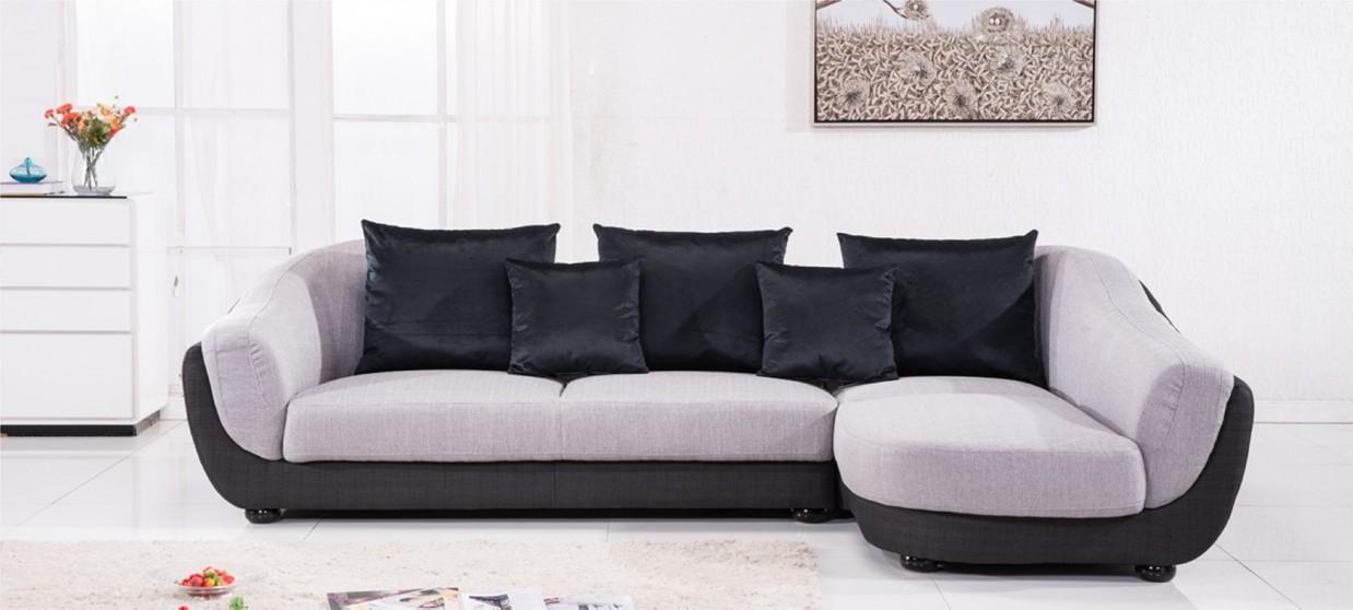 canape d angle droit en tissu gris colorado