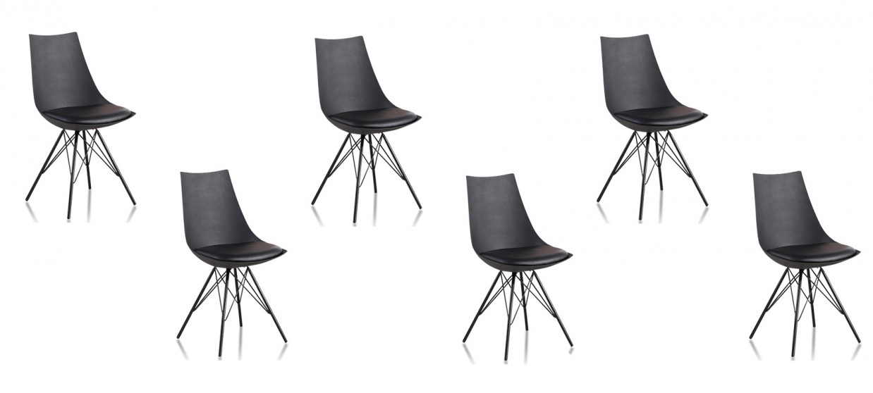 lot de 6 chaises discount noires eif