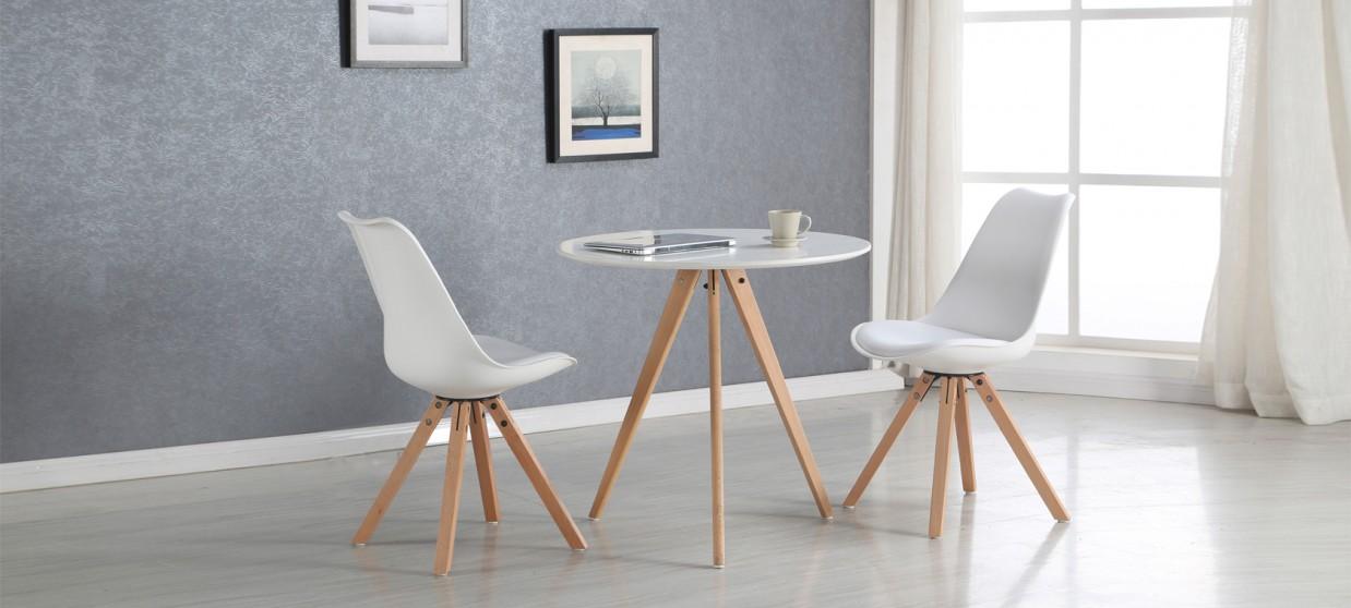 table a manger scandinave blanche 80cm oslo