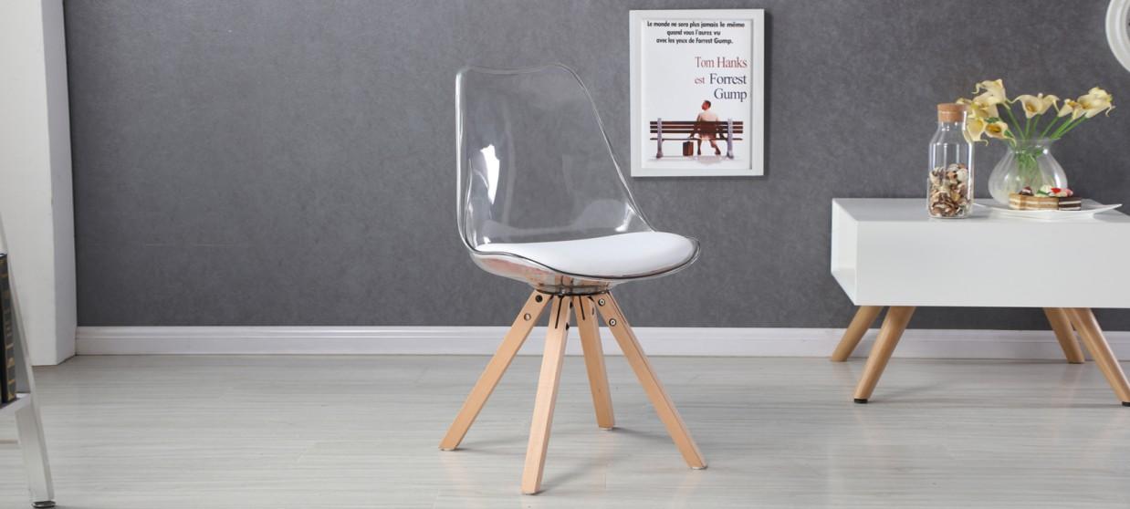 chaise transparente polycarbonate helsinki