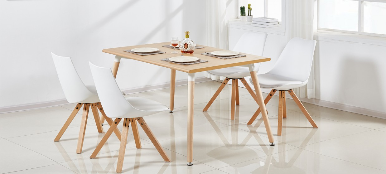 table a manger rectangulaire scandinave chene 120cm brevik
