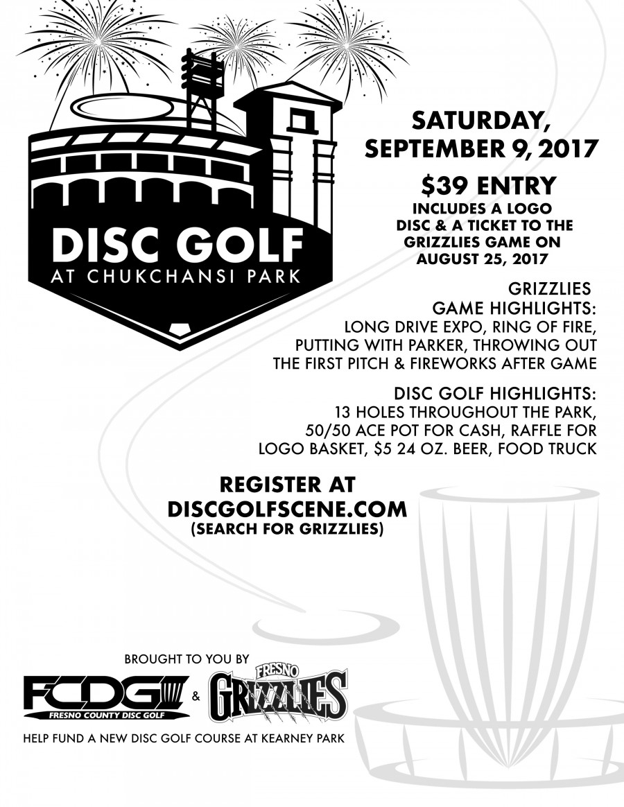 Fresno Grizzlies Disc Golf Package (2017, Fresno County