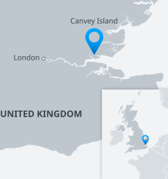 a map of the uk showing canvey island [ 1920 x 1600 Pixel ]