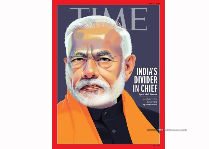 narendra modi: time magazine calls modi 'india's divider-in-chief' in its international edition