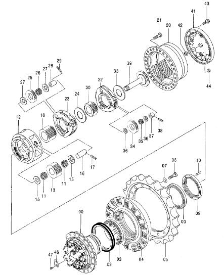 9243839 9256989 Excavator Final Drive Used For Hitachi