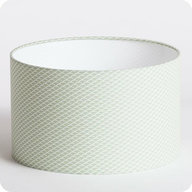 tissu motif graphique menthe bekko