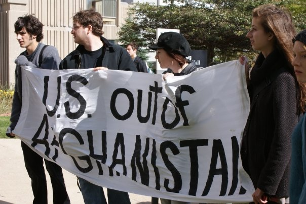 Students Protest 8 Years of War in Afghanistan | Fight Back!