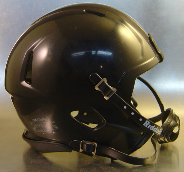 Riddell Speed Blank Mini Football Helmet Shell Black With Black Out Kit