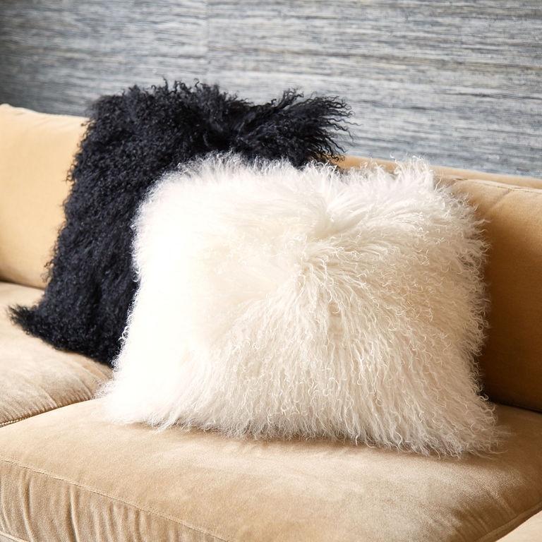 black mongolian cushion