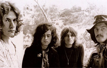 Robert Plant, Jimmy Page, John Paul Jones e John Bonham, a formação original do Led Zeppelin