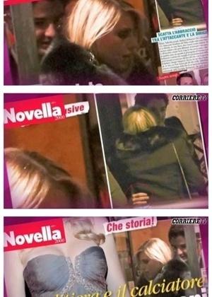 Sequência de fotos mostra Pato e Barbara Berlusconi saindo juntos em Milão (24/2/2011)