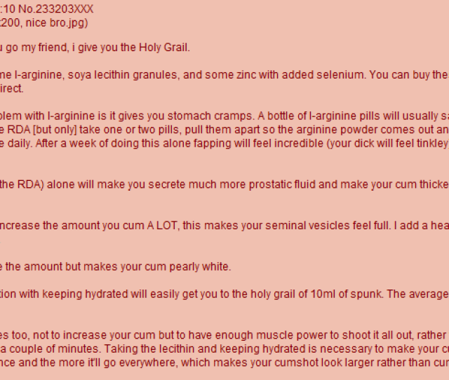 Anon Tells You How To Get Thick Ropey Cum