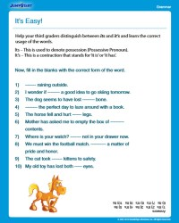 It's Easy! View - Free Grammar Worksheet for 3rd Grade ...
