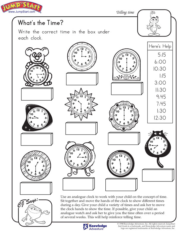 What's the Time View – Learn to Tell Time