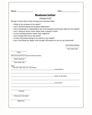 Business Letters  Practice Writing Worksheet for Kids