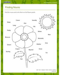 Finding Nouns  Free 1st Grade Grammar Worksheet for Kids ...