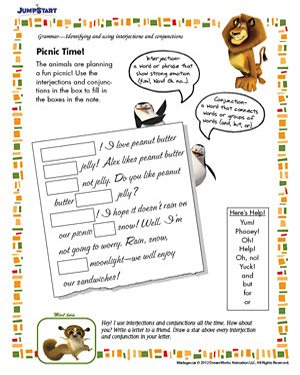 Picnic Time Free English Worksheets For Kids JumpStart