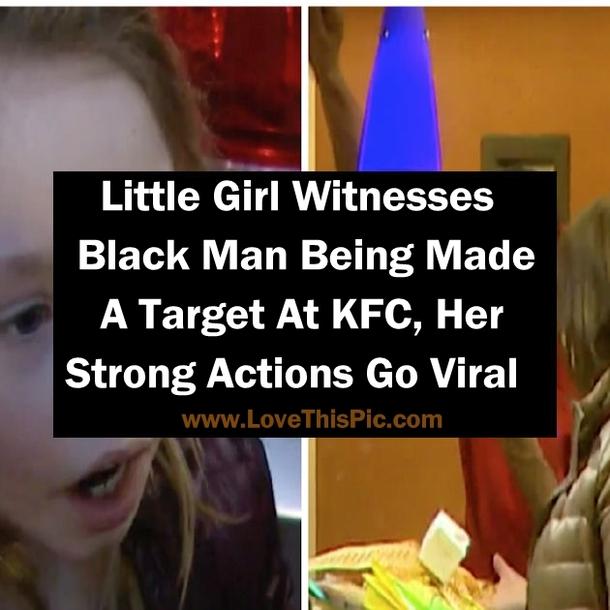 little girl witnesses black