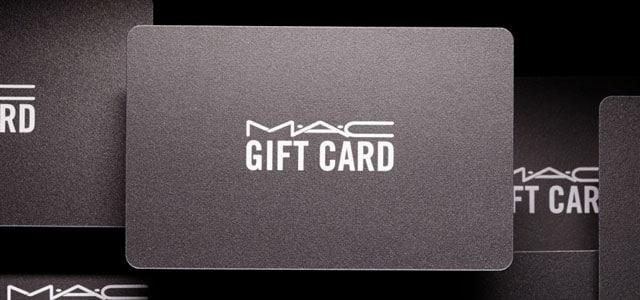 mac cosmetics gift cards