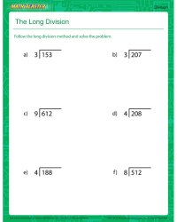 long division worksheet - DriverLayer Search Engine