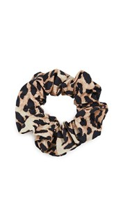GANNI Printed Cotton Poplin Scrunchie