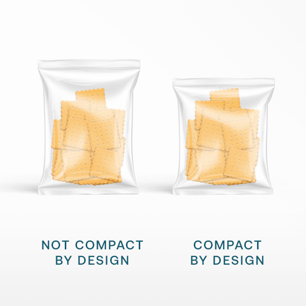 Chips with extra air vs. less air for Amazon's Compact by Design Certification