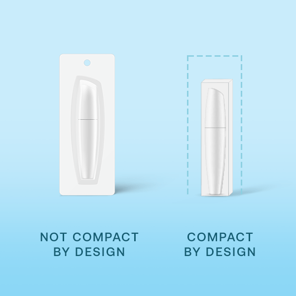 An example of less packaging for Amazon's Compact by Design Certification