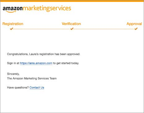 Amazon advertising final verification