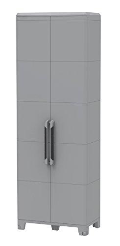 Terry Transforming Modular 5, Armadio alto multifunzione in plastica a due porte, grigio, 78 x 43.6...