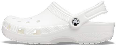 Crocs Classic, Zuecos Unisex Adulto, White, 37/38 EU