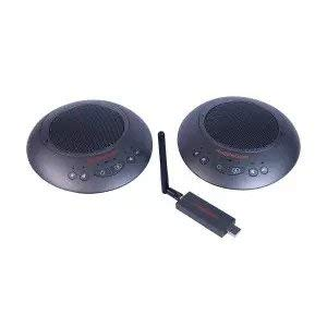 HuddleCamHD HuddlePod Air2 Dual Wireless Conference Call Speaker and Microphone System